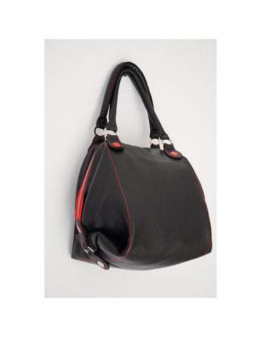 Handmade leather black bag