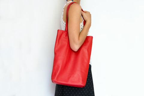 Tote leather bag for her