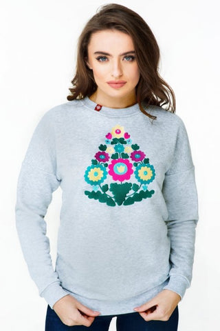 "Woman's sweatshirt ""Folk Flowers"""