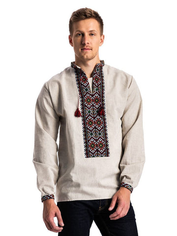 Embroidered men's LS1