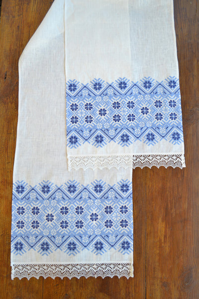 Blue Stars Table runner (Рушник)