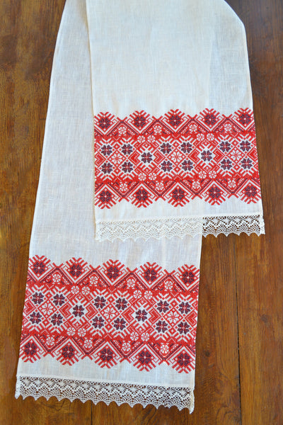 Red Stars Table runner (Рушник)
