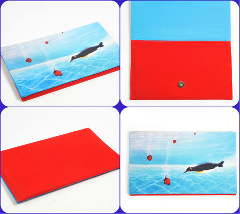 "Handmade Clutch ""Strawberry"""