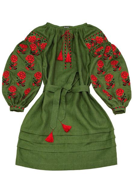 Embroidered dress Forest Rose