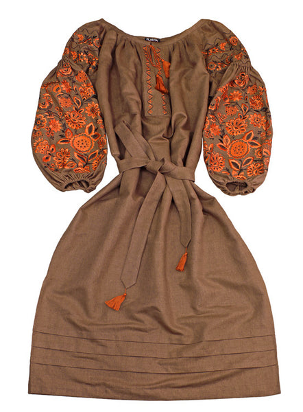 Embroidered dress Miracle Tree (B)