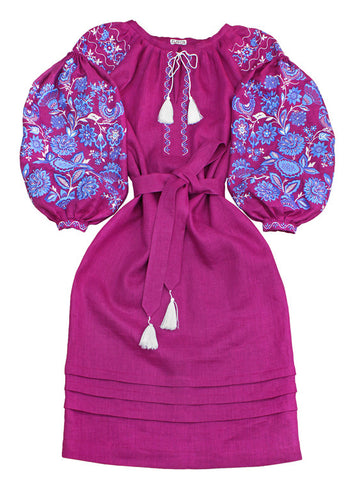 Embroidered dress Miracle Tree (P)