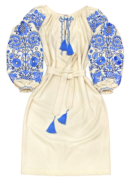 Embroidered dress Icy Swirls (M)