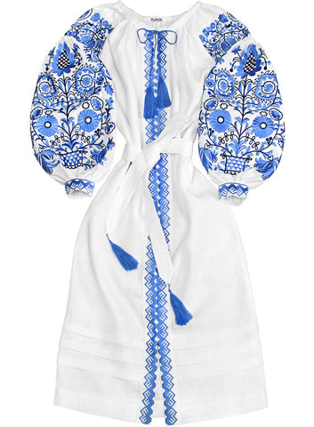 Embroidered dress Icy Swirls