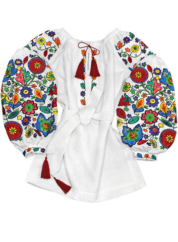 Embroidered blouse Bukovina Flowers