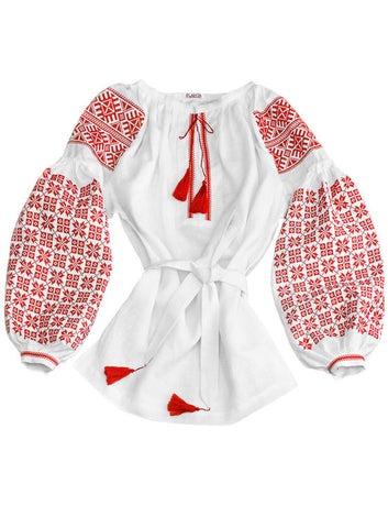 Embroidered blouse Red Dawn