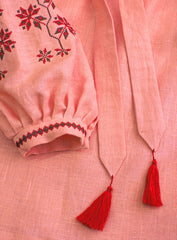 Embroidered blouse Coral Dawn