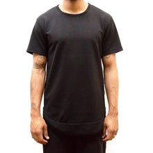 Load image into Gallery viewer, SEAMED SCALLOP TEE- BLACK