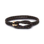 H.Aitch - 18K Gold & Leather Bracelet