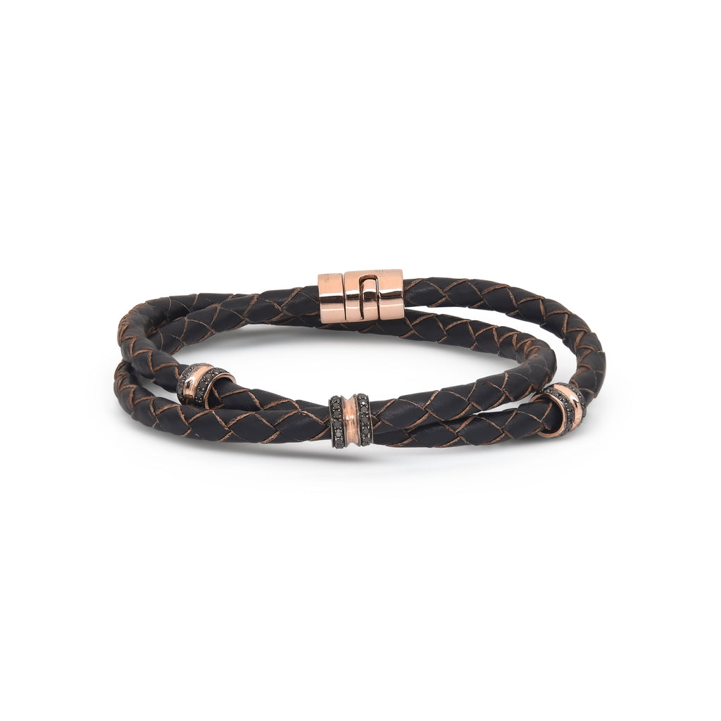 H.Aitch - 18K & Black Diamond Wrap Bracelet