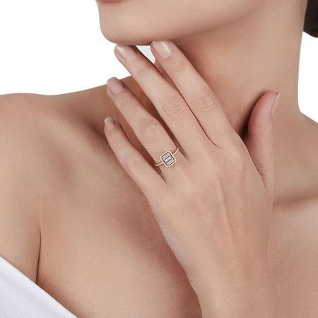 Baguettes & Round Diamonds Ring