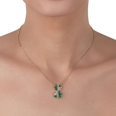 Emeralds & Diamonds Necklace