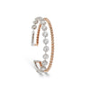 Diamond & Rose Gold Cuff Bracelet