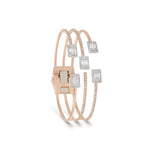 solid rose gold cuff bracelet | Diamond Jewelers in Saudi Arabia