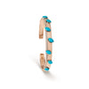 Turquoise Rose Gold & Diamond Cuff Bracelet
