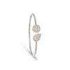 Pear & Round Diamond Illusion Cuff Bracelet