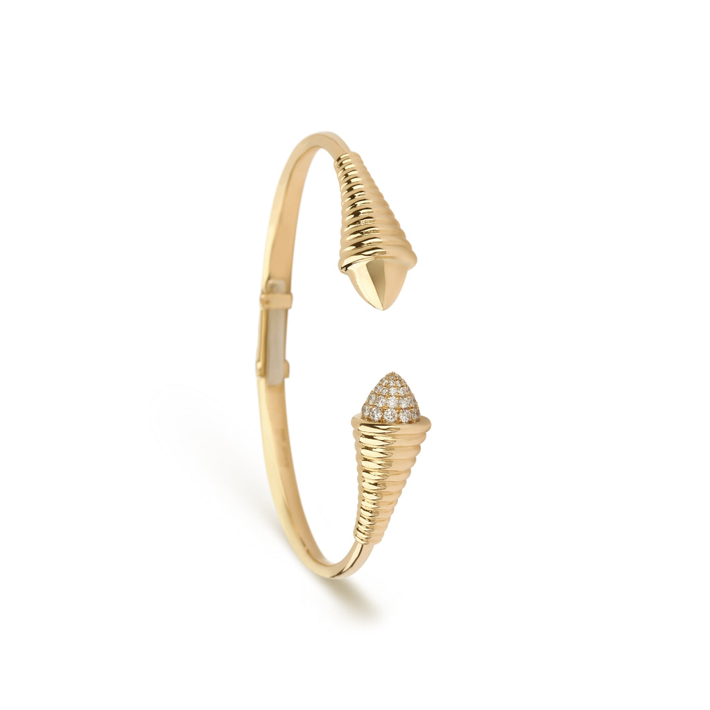 yellow gold diamond bangle bracelet | Online Jewelry Store UAE