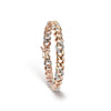 Diamond & Rose Gold Cuban Link Bracelet