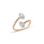 Rose Gold Marquise Cut Diamond Ring