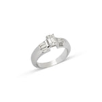 Emerald Cut & Baguettes Diamond Ring