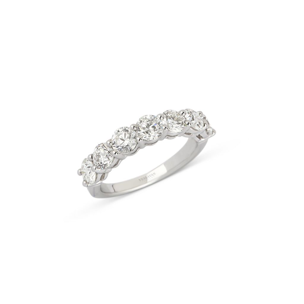 Half Diamond Ring Band