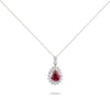 Ruby & Diamond White Gold Necklace