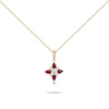 Ruby & Diamond Yellow Gold Necklace