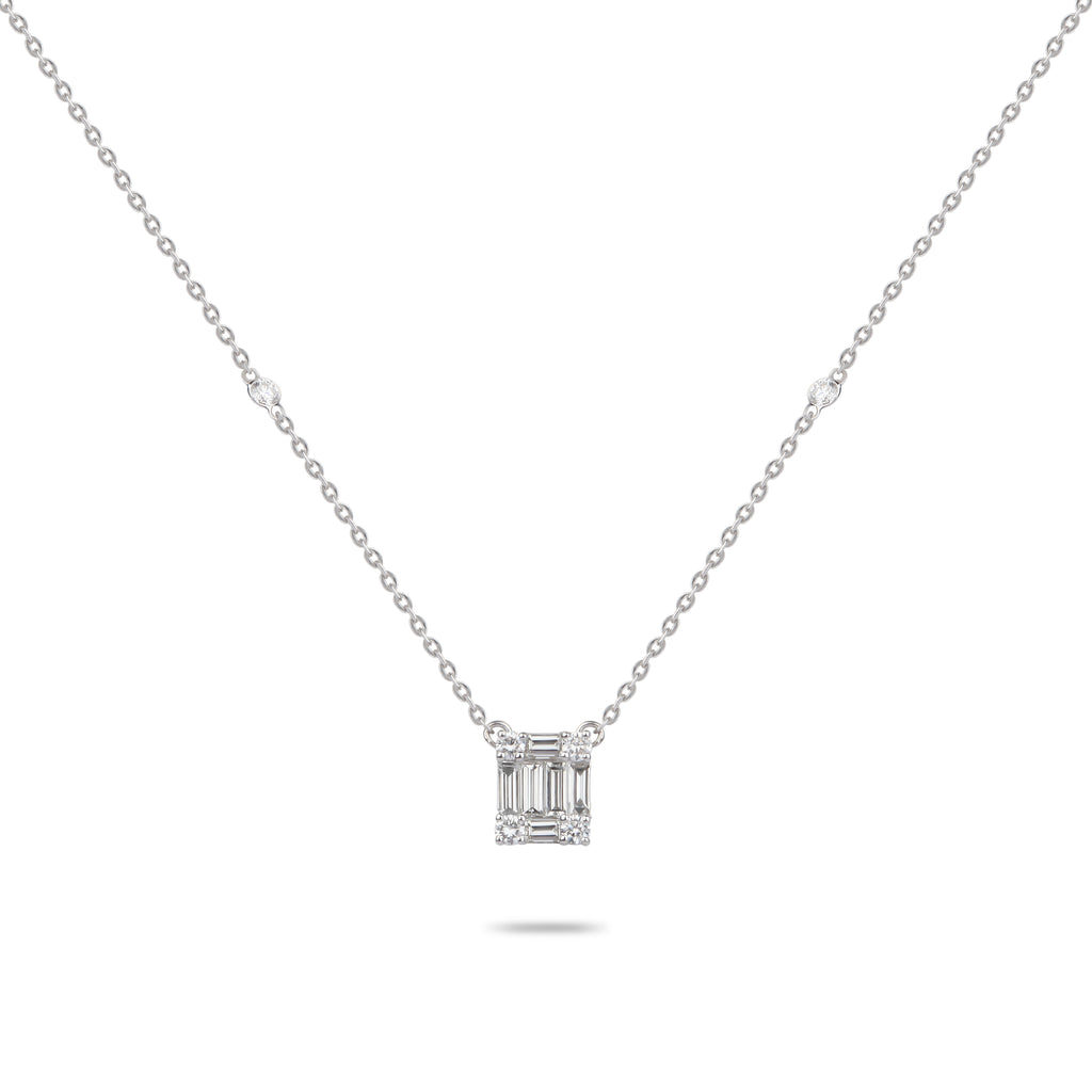 Diamond Baguettes Necklace