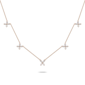 Diamond Clover Charm Necklace