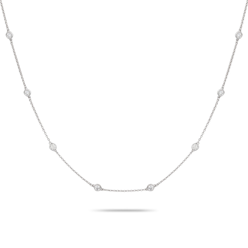 Long Diamond Chain Necklace