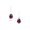 Ruby & Diamond Drop Earrings