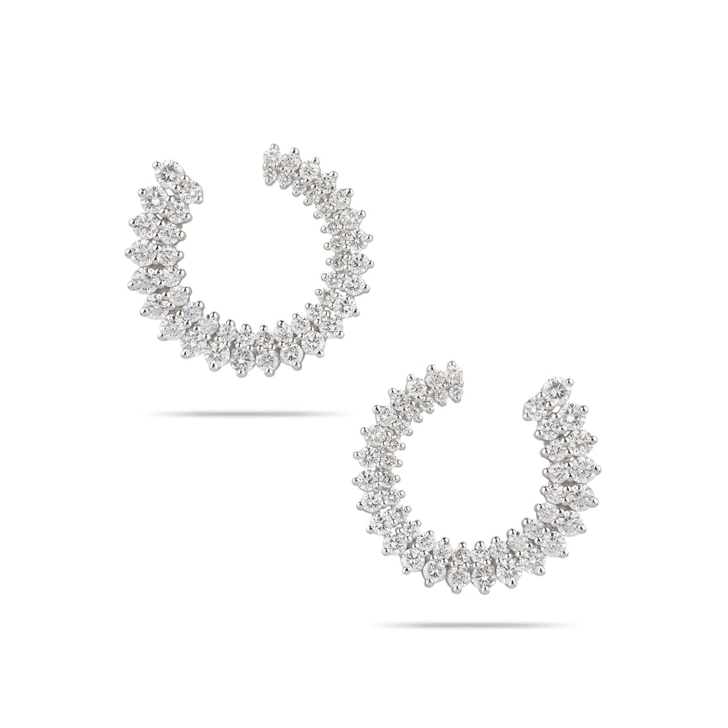 Double Diamond Row Hoops