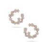 Flower Setting Diamond Hoops
