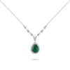 Emerald & Diamond Accented Necklace