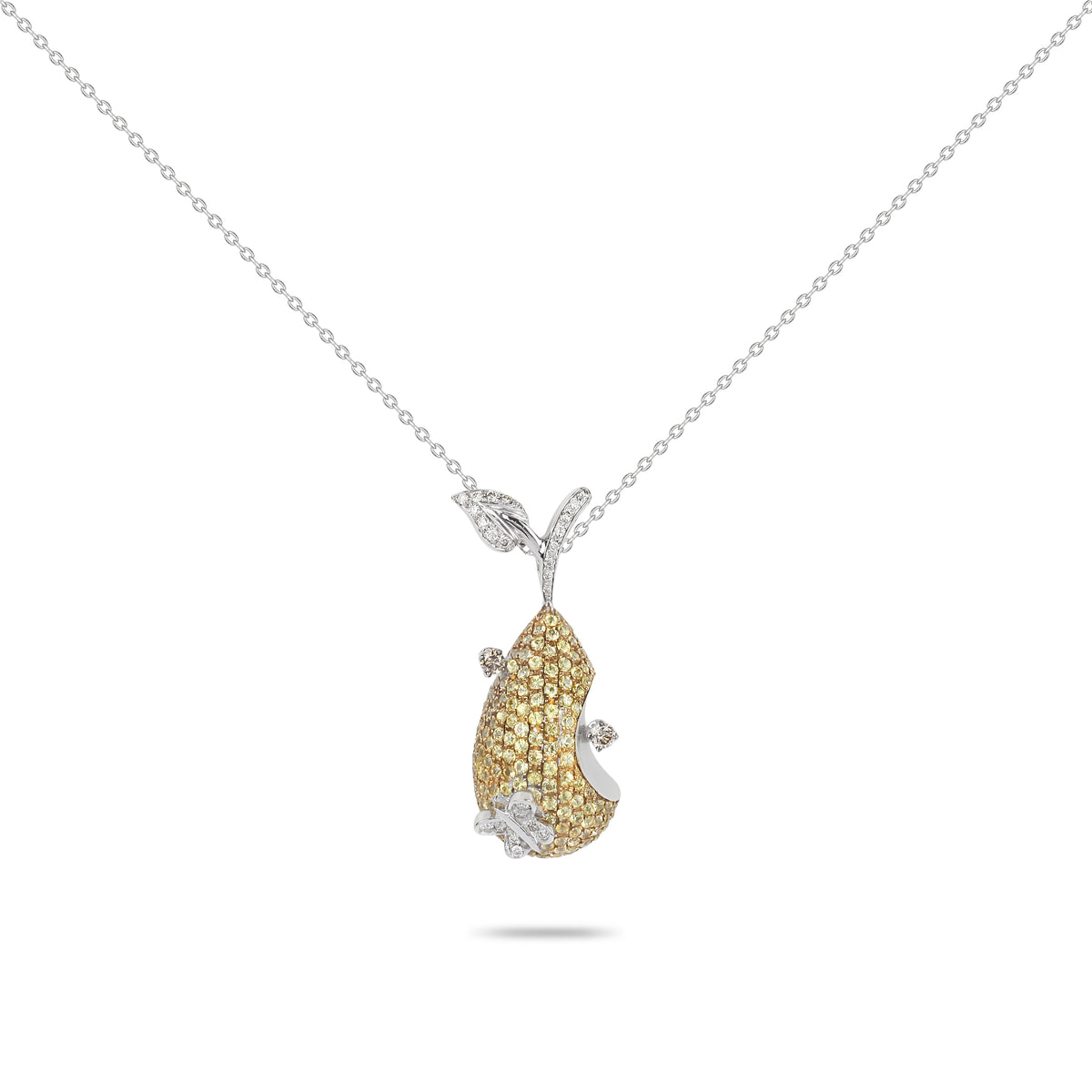 Pear Diamond Necklace