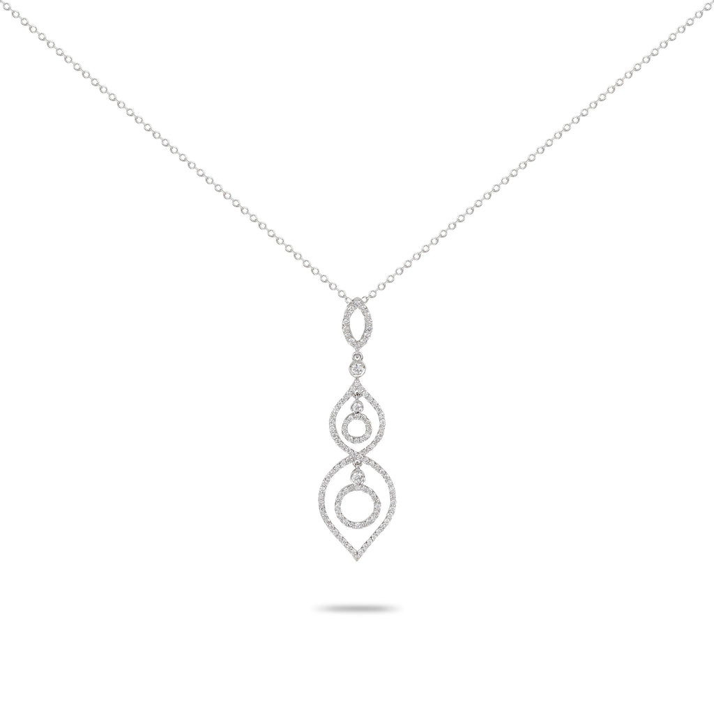 Dangling Diamond Loops Necklace
