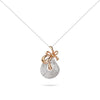 Rose Gold Ribbon & Diamonds Necklace