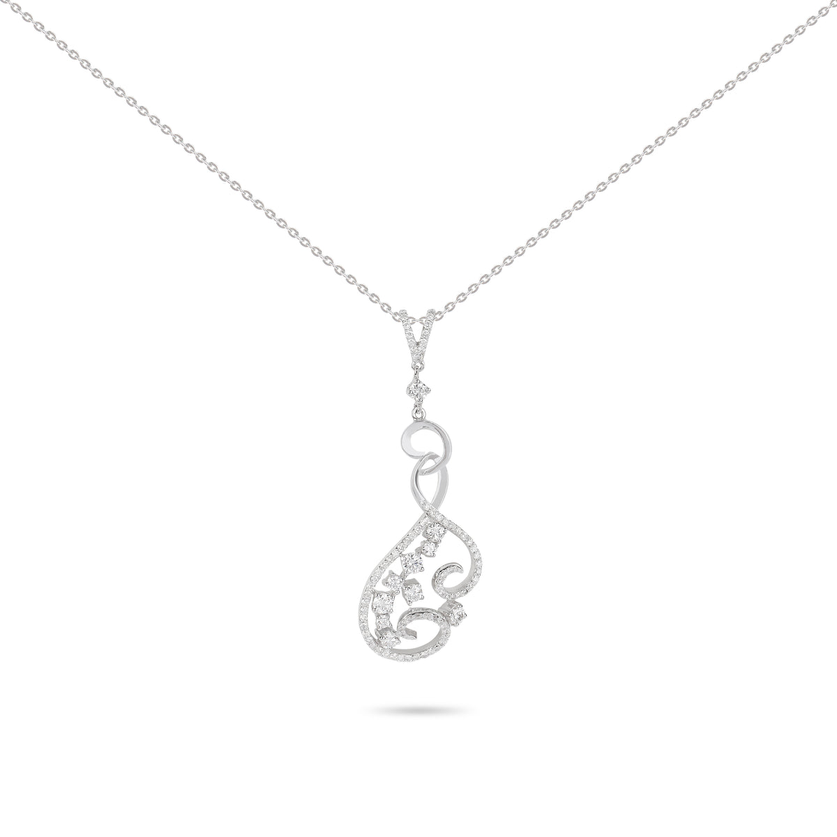 Spiral Diamonds Necklace