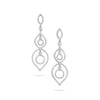 Dangling Diamond Loops Earrings