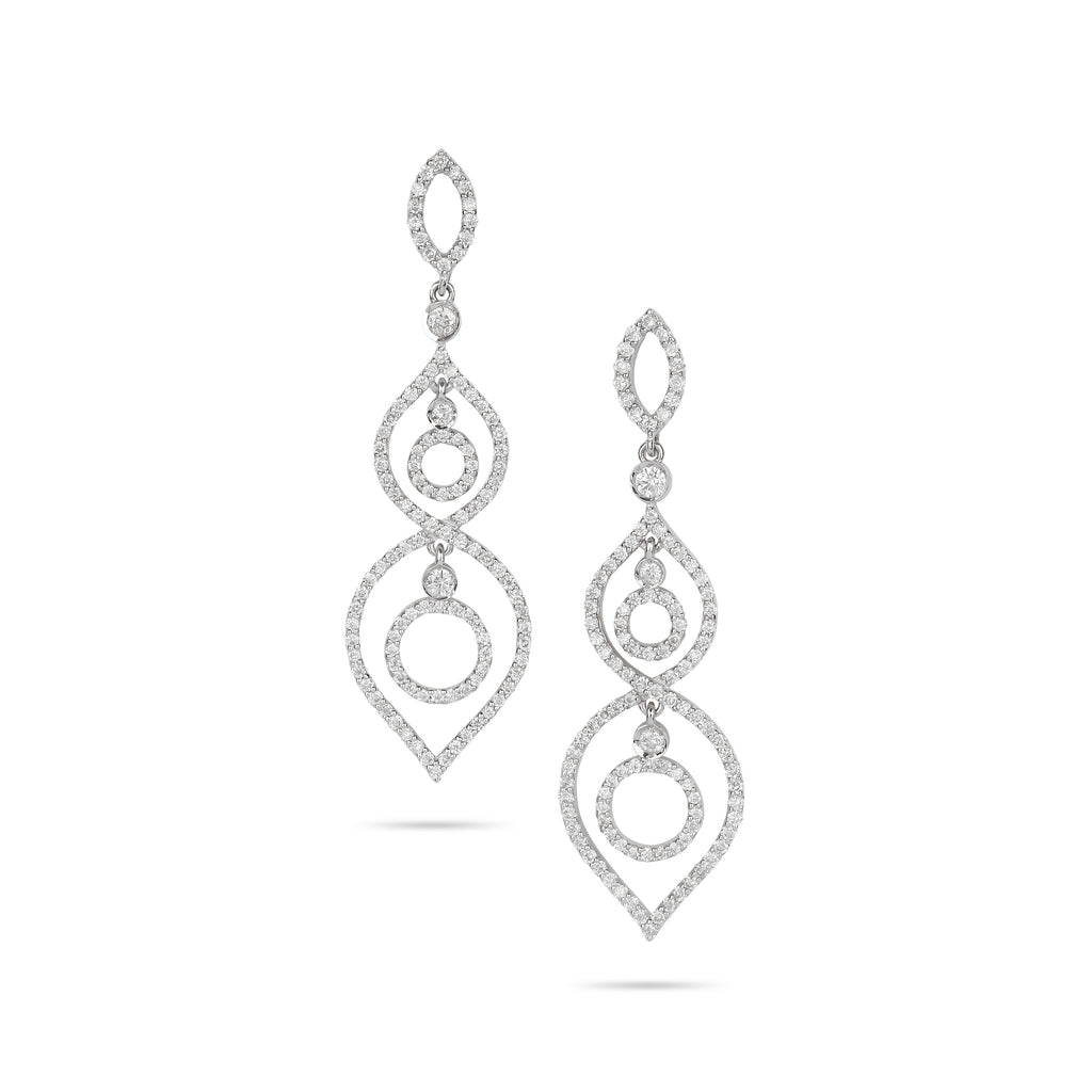 Diamond earring in Saudi Arabia | Order earrings online in Saudi Arabia