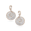 Rose Gold Spiral Diamond Earrings
