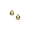 Lady Bug Diamond & Emerald Yellow Gold Earrings