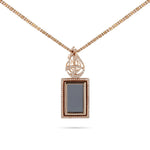 The Crystal Qur'an Rose Gold Diamond Necklace