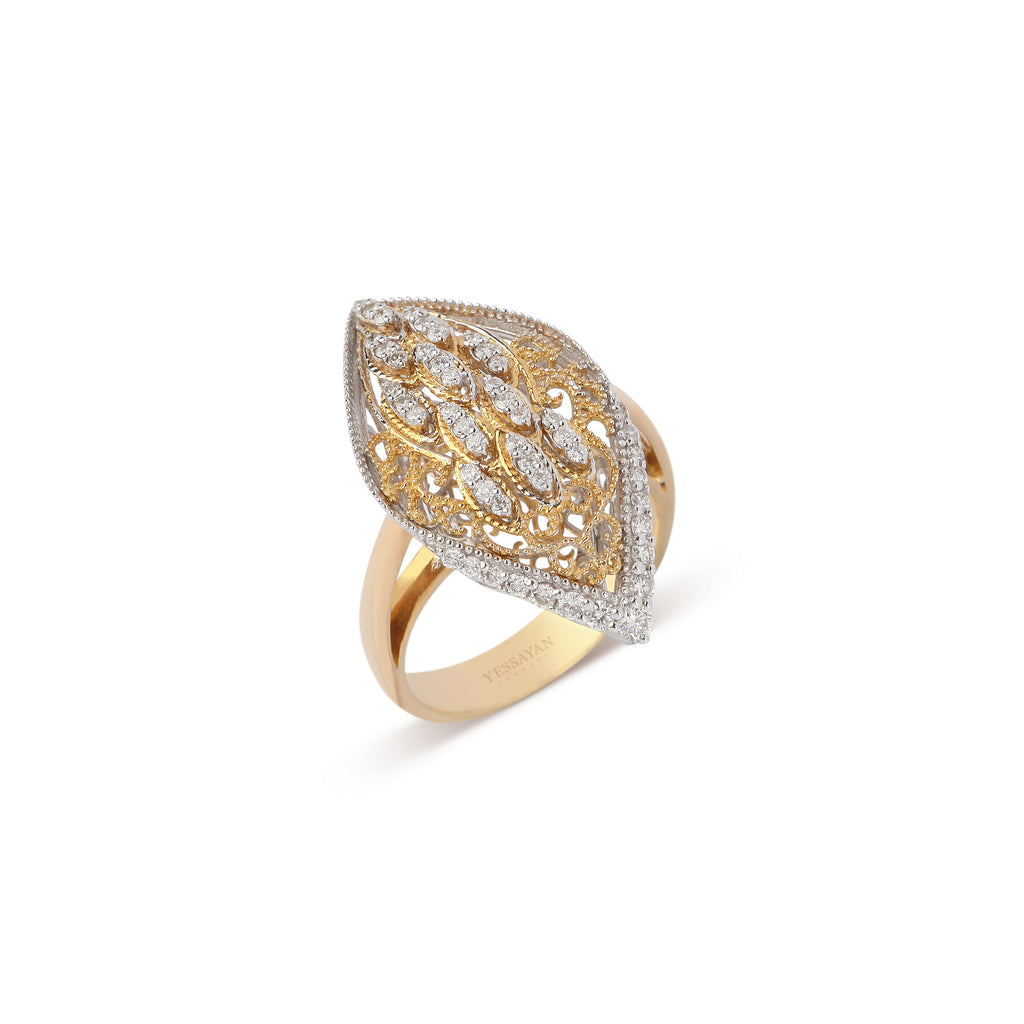 Marquise Pave Diamond Ring