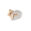 Rose Gold Ribbon & Diamonds Ring
