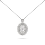 Engraved Qur'an White Gold Diamond Necklace